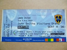 Tickets- 2005 CARDIFF CITY v LEEDS UNITED, 9 Aug; League Championship