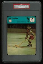 PSA 8 LINES IN THE ICE with ROD GILBERT 1978 Sportscaster Hockey Card #33-03