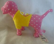 VICTORIA'S SECRET PINK  DOG POLKA DOT WITH YELLOW PEACE SHIRT NWT