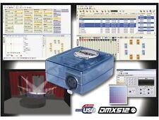 CONTROLEUR REGIE LUMIERE DMX 128 CANAUX KIT PROGRAMMATION PC ORDINATEUR SCENE 3D