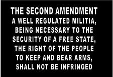 WHITE Vinyl Decal The Second Amendment bill of rights guns constitution country