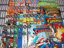Big Lot of 43 The Adventures of SUPERMAN comics from #461 to #592 and Annual #5
