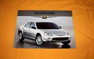 Chrysler Sebring 2001 Prospekt Brochure Depliant Catalogue Prospetto Prospecto