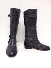 Belstaff jeen Lady Bottes Chaussures Antique Gris 757961 EUR37 UK 4 A2411