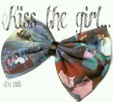 Kiss the Girl Little Mermaid Disney Printed Hair Bow