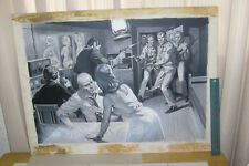 EARL NOREM PAINTING: mens magazine illustration: NAUGHTY SPIES! Comic Art
