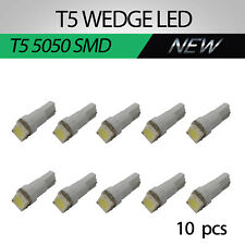 10x T5 LED 207 5050SMD Speedo Dashboard Dash Wedge Side Light Globe Bright White