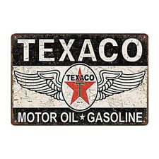 Metal Tin Sign TEXACO OIL Bar Pub Home Vintage Retro Poster Cafe ART