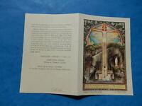 IMAGE PIEUSE HOLY CARD LOURDES 1935 JUBILEE THFR