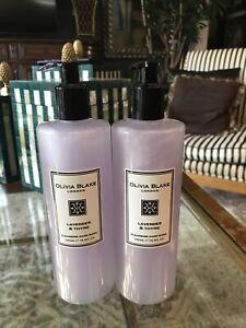 2 New Olivia Blake London Lavender & Thyme Cleansing Hand Wash 16.9 Fl Oz