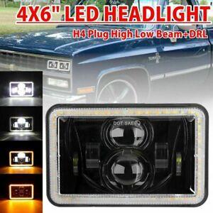 4X6'' Inch LED Headlight Hi-Lo Beam For Ford Mustang Probe Pontiac Grand Prix