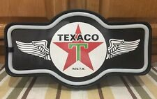 Texaco LED Light Sign Vintage Style Gas Oil Garage Car Truck Service