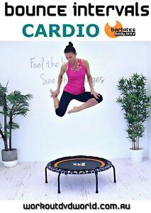 Rebounder Mini Trampoline EXERCISE DVD Barlates BOUNCE INTERVALS CARDIO