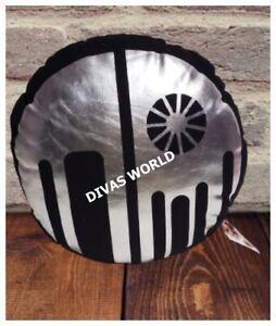 STAR WARS CUSHIONS Circular Death Star Black Silver Cushion Pillows Gift NEW