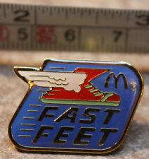 McDonalds Fast Feet Running Shoe Employee Collectible Pinback Pin Button
