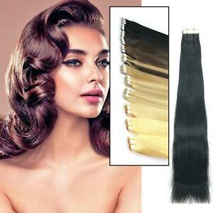 Tape In Seamlees Remy Human Hair Extension Premium Hair Curly 25-5OG UK
