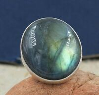 Solid 925 Sterling Silver Jewelry Labradorite Gemstone Engagement Gift Ring
