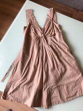 Philosophy di Alberta Ferretti robe coton beige taille: ita.: 42 D.: 36-38