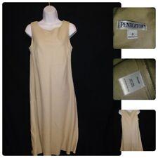 5678ef4f58 New ListingPENDLETON WOMENS SIZE 8 LONG MAXI DRESS SLEEVELESS LINEN BLEND  BEIGE   TAN
