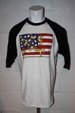 EUC OBEY Keith Haring Baseball Style T Shirt Sz XL NICE WOW