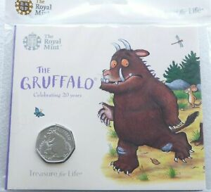 2019 Royal Mint The Gruffalo and Mouse BU 50p Fifty Pence Coin Pack Sealed