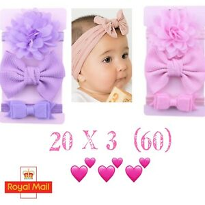 JOB LOT!  Headbands X Infant Toddlers Girls Hairbands Bow Hair Accessories 💕