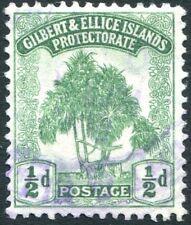 GILBERT & ELLICE ISLANDS-1911 ½d Green Sg 8 GOOD USED V29758