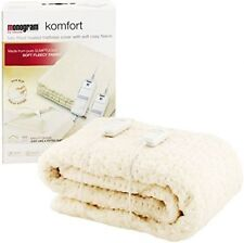 Monogram Komfort Fully Fitted Fleecy Heated Blanket Mattress Cover King Size