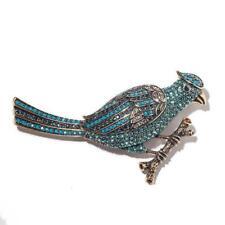 Blu Swarovski Crystal Showstopper! Ret $190 Heidi Daus Blue Jay Bird Pin