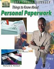 NEW Life Skills Literacy: Things To Know About Personal Paperwork