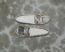 WOMAN - 38 - PENNY LOAFER - GENUINE PYTHON ROCCIA - LEATHER SOLE