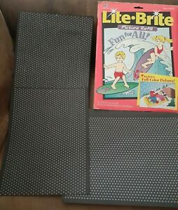 Vintage Lite•Brite Picture Refill •Full Color + 19 Unpunched Blank Paper Refill