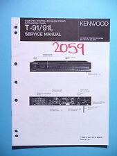Service Manual-Anleitung für Kenwood T-91 ,ORIGINAL