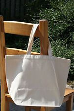Plain Natural Heavy Cotton Canvas Shopper Tote Bag Plain 50*38*19