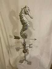 Large Handcrafted 3D 3-Dimensional Seahorse Weathervane stainless steel Finish