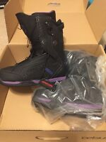 Celsius Cirrus Black Purple Ozone Lace Men's Snowboard Boots NEW