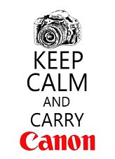 Keep Calm and Carry Canon STICKER DECAL VINYL BUMPER CAR Wall Locker Notebook