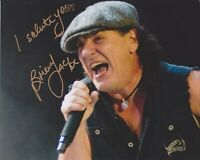 Brian Johnson HAND SIGNED 8x10 Photo Autograph AC/DC Back In Black Hells Bells B