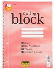5x Collegeblock DIN A4 Spirablock Kollegblock liniert