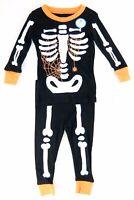 Carters Boys Pajama Set Glow in the Dark Skeleton Spider Web Size 12 18 Months