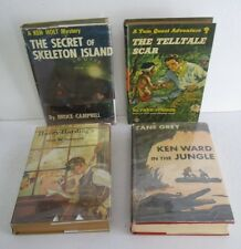Lot of 4 Vintage Boys Series & Adventure Books 1920s-1950s