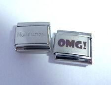 OMG 9mm Italian Charm + 1x Genuine Nomination Classic Link - OH MY GOD GOODNESS