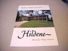 1980 Robert Todd Lincoln's Hildene - Manchester Village Vermont VT