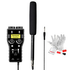 Camera Camcorder Shotgun Microphone +Saramonic SmartRig +Audio Mixer w/ Cable