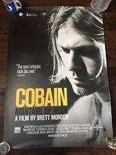 New unused Kurt Cobain film poster 855x630mm nirvana grunge hole soundgarden