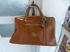 ancien sac cuir ? retro bagage a main cabine valise week end vintage