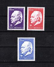 MONACO timbre poste aérienne  prince Rainier      1974  num: 97/99 **