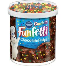 NEW PILLSBURY CONFETTI FUNFETTI CHOCOLATE FUDGE FROSTING 15.6 OZ GLUTEN FREE