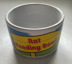 Ceramic Pet Rat Feeding Bowl with Cartoon Design