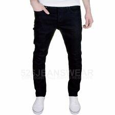 Jack&Jones Hombres Marca de diseño corte slim Elástico Jeans Negros,